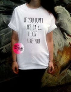 ***IF YOU DON'T LIKE CATS THEN I DON'T LIKE YOU***  Model in photograph is wearing a size Medium.  Sleeves do not come rolled, these can be either sewn in or ironed in place to last all day.  Sizes: Small, Medium, Large or Extra Large. Please see below or in the photographs for measurement ...