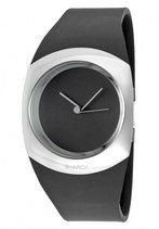 Philippe Starck Quartz Analog Black Dial Black Polyurethane Watch # PH5041 (Unisex Watch)