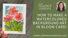 Learn how to make this card with Stampin' Up!'s Art in Bloom stamp set, Bloom Dies, and Bloom Hybrid Embossing Folder in this video tutorial!