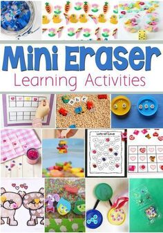 Use mini erasers to help your kid to learn math concepts. LalyMom shares these math activities to help your child with math bonding and ten frames. Set this math learning center up for your kids. Make math fun to learn. These learning activities are perfect for preschoolers, kindergarteners, and school-aged kids. Rainy Day Activities, Toddler Learning Activities, Infant Activities, Learning Resources, Preschool Activities, Writing Prompts For Kids, Kids Writing, Number Bonds, Math Manipulatives
