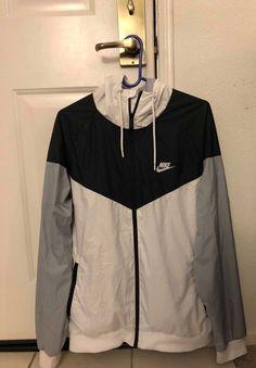 b889ebf2ca Rare Nike Windrunner Jacket Windbreaker Nylon Glanz Black White Gray Large   fashion  clothing  shoes  accessories  mensclothing  coatsjackets (ebay  link)
