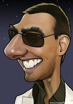 Caricaturas by Daniel Alho / Tom Cruise