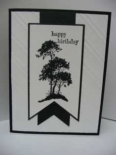 Serene Saying - http://mydianedesigns.blogspot.com/ Stampin' Up!, Serene Silhouettes, Something to Say, Banners Framelits, Stylish Stripes