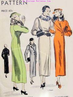 1930s Coat Vogue 6714