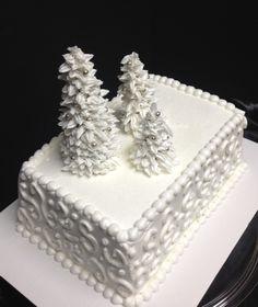 'I'm Dreaming of a White Christmas,' #Christmas cake. - popcakery.com