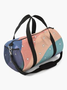 """""""Star Pattern Retro Aesthetic"""" Duffle Bag by ind3finite   Redbubble Duffle Bags, Retro Aesthetic, Star Patterns, Mask For Kids, Chiffon Tops, Gym Bag, Shoulder Strap, Cute Outfits, Hairstyles"""