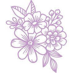 Silhouette Design Store - 298491 Description Original hand drawn design from Wild Pilot. Floral Embroidery Patterns, Hand Embroidery Designs, Flower Patterns, Flower Designs, Free Flower Clipart, Flower Svg, Silhouette Clip Art, Silhouette Design, Motif Floral