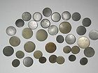 36 Antique White Metal Buttons - ANTIQUE, BUTTONS, Metal, WHITE