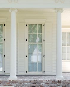 We offer a full range of vinyl, aluminum, wood, and clad windows. We also carry a line of impact windows offering protection from wind-blown debris. Front Door Paint Colors, Painted Front Doors, Exterior Paint Colors, Exterior House Colors, Garage Door Design, Garage Doors, Best Front Doors, Southern Homes, Farmhouse Design