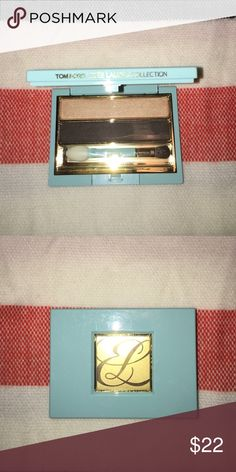 NEW Estée a Lauder Tom Ford Eyeshadow NEW unused limited edition Tom Ford and Estée Lauder Eyeshadow Duo. Beautiful blue compact and Eyeshadow colors. Compact shade is called Cap Bronzée. No Box Sephora Makeup Eyeshadow