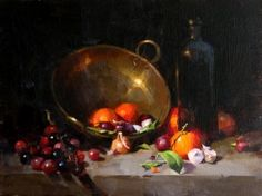 """Tangerines, Onions and Grapes"" by Qiang Huang OPA"