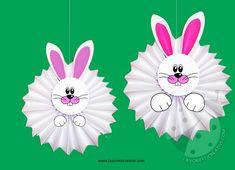 Addobbi Pasqua - Conigli a fisarmonica