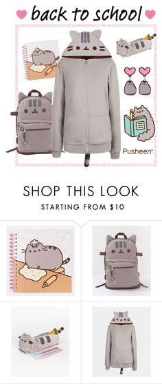 """Back to School with Pusheen"" by polyvore-editorial ❤ liked on Polyvore featuring Pusheen and PVxPusheen"
