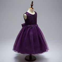 Toddler Girl Pretty Purple Dress Plum Flower Girl Dresses, Purple Flower Girls, Toddler Flower Girl Dresses, Toddler Dress, Purple Dress, Toddler Girl, Wedding Themes, Wedding Ideas, Plum Flowers