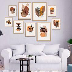 Plant Wall Decor, Wall Painting Decor, Wall Art Decor, Cadre Diy, Mid Century Wall Art, Living Room Prints, Minimalist Painting, Diy Canvas Art, Wooden Wall Art