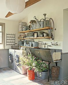 Laundry and Mudroom #laundry #mudroom #farmhouse #sink #basin