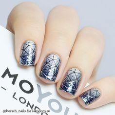 French Nail Designs, Nail Art Designs, Nails Design, Gradient Nails, Acrylic Nails, Blue Fingers, Pearl Nails, Trendy Nail Art, Fabulous Nails