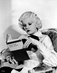 Don't give me books for Christmas; I already have a book. Jean Harlow in Bombshell 1933 http://www.timelessbeauty.it/jean-harlow/
