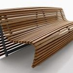 Cool Wooden Bench by B Italia l Garden Bench