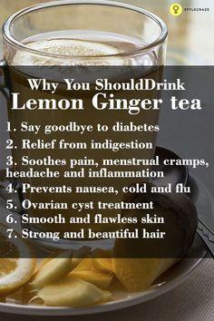 Lemon ginger tea – Health benefits http://standouthealth.com