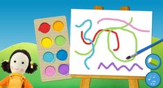 Lots of awesome sites for kids to play and create with art online.