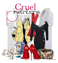 """Cruel Intentions"" by dalinda87 ❤ liked on Polyvore featuring Lanvin, Alexander McQueen, Disney and Christian Louboutin"