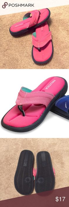 ⚡️BOGO 1/2 off!⚡️Nautica pink fabric sandals Size 9, true to size. Cloth cushion insoles, rubber bottoms. So lightweight & comfortable! Barely worn once- excellent condition. 🔴Bundle to save! 🔴NO TRADES, no modeling. 🔴REASONABLE offers welcome via offer button. Nautica Shoes Sandals