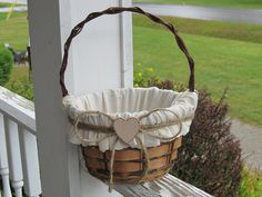 Flower Girl Basket- Personalized For Your Wedding Day. $25.00, via Etsy.