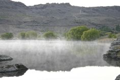 Smoke on the water! Near Alexandra, Central Otago, New Zealand
