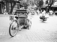 Cyclo in Old Hanoi, Vietnam
