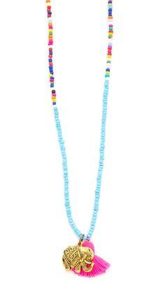 Lead Beaded Tassel Necklace