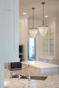 Pottery Barn Clarissa Crystal Drop Small Round Chandeliers