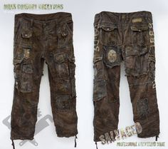 Post Apocalyptic Costume - aged trousers for LARP. SALVAGED Ware enquiries always welcome @ www.markcordory.com