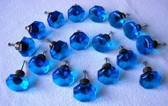 Blue Glass Knobs, Knobs And Pulls, Door Knobs, Home Accessories, Stud Earrings, Blue, Home Decor Accessories, Stud Earring, Door Handles