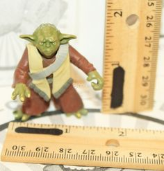 "STAR WARS MASTER YODA ACTION 2"" TOY FIGURE ARMY OF THE REPUBLIC CLONE WARS 2003 #Hasbro"