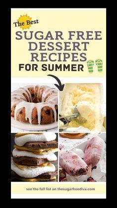 Diabetic Friendly Desserts, Diet Desserts, Low Carb Desserts, Low Carb Recipes, Dessert Recipes, Diabetic Foods, Diabetic Recipes, Healthy Recipes, Sugar Free Deserts