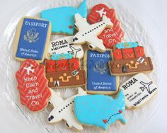 Travel cookies    By artsyqt44 http://cupcake-adventures.blogspot.com/