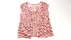 Hem kolay  hem hafif şık bir yelek - YouTube Summer Patterns, Crochet Videos, Crochet Designs, Baby Dress, Knit Crochet, Rompers, Blouse, Tops, Clothes