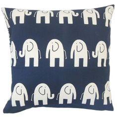 Brayden Studio Lamont Graphic Floor Pillow Color: Navy