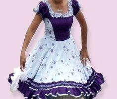 Huasa chilena, Vestidos de china! Frock Design, Frocks, Holi, Beautiful Dresses, Kids Outfits, Short Sleeve Dresses, Dance, Womens Fashion, Clothes