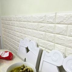 2016 NEW White 3D Design Moderno Tijolo Vinil Rolo Papel de parede Revestimento de Parede Papel de Parede Sala de estar Sala de Jantar Loja Fundo