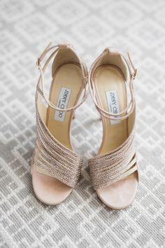 Sparkly Jimmy Choo sandals: http://www.stylemepretty.com/california-weddings/dana-point/2016/04/25/glamorous-ballroom-wedding-thats-got-florals-for-days/ | Photography: Jana Williams - http://jana-williams.com/