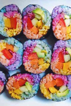Healthy unicorn food recipes Unicorn food that I NEED! Sushi, toast, noodles – all vegan! Cute Food, Good Food, Yummy Food, Unicorn Foods, Rainbow Food, Unicorn Birthday Parties, Unicorn Party, Rainbow Unicorn, Lego Birthday