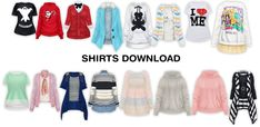 MMD Female Shirts DL by UnluckyCandyFox.deviantart.com on @DeviantArt