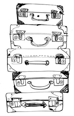 LUGGAGE INK SKETCH - valises source:  http://faitdanslatelier.canalblog.com/