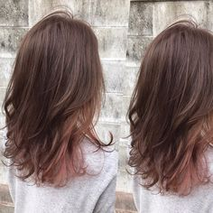 Ombre hair: the most beautiful color gradients and if we dared ombre hair? Best Ombre Hair, Ombre Hair Color, Peekaboo Hair Colors, Hair Streaks, Hair Highlights, Medium Hair Styles, Short Hair Styles, Korean Hair Color, Short Wavy Hair