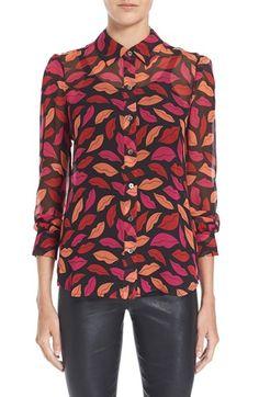 Diane von Furstenberg 'Mariah' Print Silk Blouse available at #Nordstrom