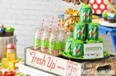 super mario bros party ideas | in this party from kara s party ideas shop mario themed party supplies ...