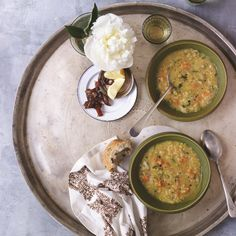 Moroccan Lentil Soup from Daphne Oz (in her book Relish).