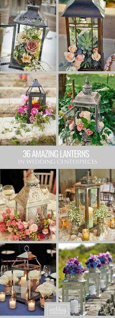 Fab candles in hanging lanterns:
